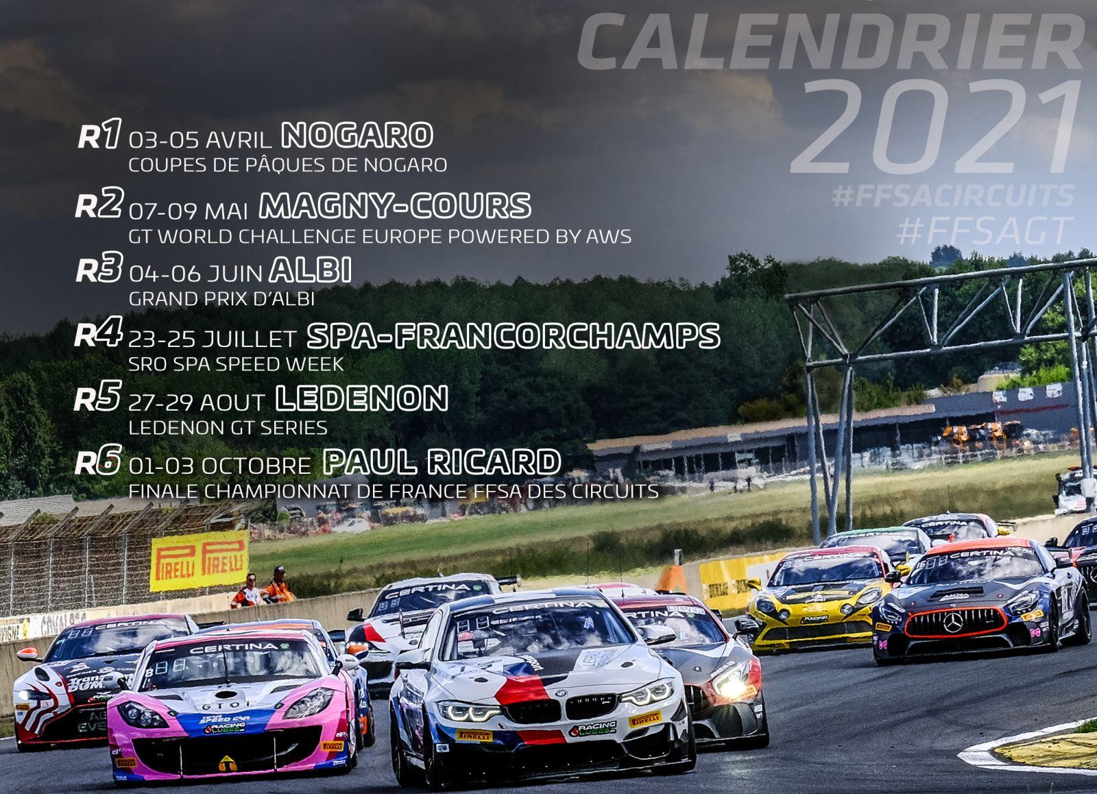 Circuit Ledenon Calendrier 2022 Le FFSA GT officialise son calendrier 2021   Endurance Info